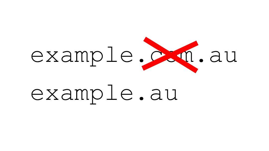 Changes to Australian Domain Names